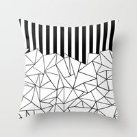 Abstract Outline Stripes… Throw Pillow