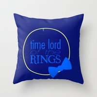 Time Lord Of The Rings Throw Pillow