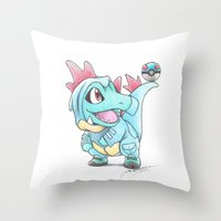 Throw Pillows featuring Caught in a DILEma by Randy C