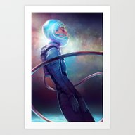Art Print featuring Silence by Loish