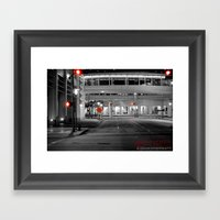 RED LIGHTS Framed Art Print