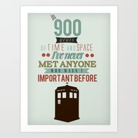 doctor who Art Prints featuring Doctor Who by Ashley