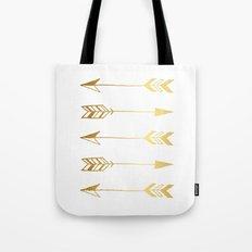 Faux gold foil arrows Tote Bag