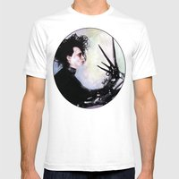 Edward Scissorhands: The story of an uncommonly gentle man. Mens Fitted Tee White SMALL
