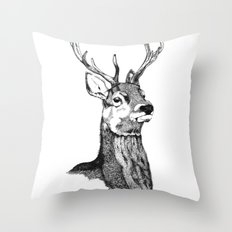 Noble Stag Throw Pillow