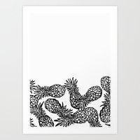Pineapple Candy Art Print