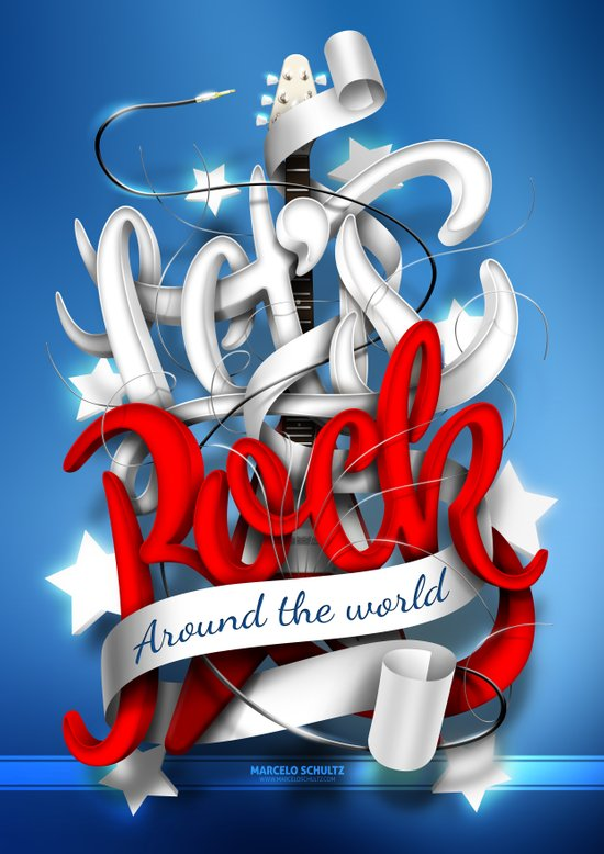 Let's Rock Around The World Canvas Print