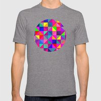 pink Abstract Mens Fitted Tee Tri-Grey SMALL