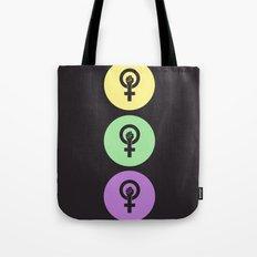 Feminist Power Fist, Tri-Colour Tote Bag