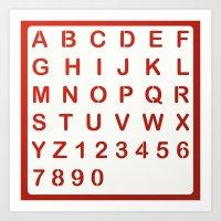 alphabet Art Prints featuring Alphabet by Sébastien BOUVIER