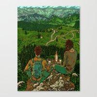 Mountains in Romania Canvas Print