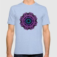 Celtic Brooch Mens Fitted Tee Tri-Blue SMALL