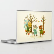 Laptop & iPad Skin featuring Critters: Spring Dancing by Teagan White