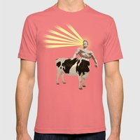 The real muscular cow-boy  Mens Fitted Tee Pomegranate SMALL