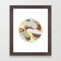 naive lines Framed Art Print