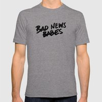 Bad News Babes Mens Fitted Tee Tri-Grey SMALL