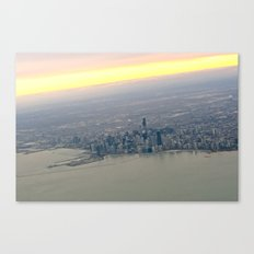 Chicago in Plane View Canvas Print