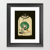 Chinese Idiom: Sitting D… Framed Art Print