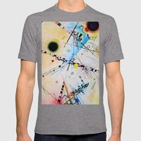 Kandinsky Reimagined  Mens Fitted Tee Tri-Grey SMALL