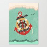 Sail The Seven Seas Canvas Print
