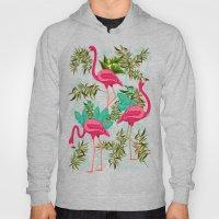 Pink Flamingos Exotic Birds Hoody