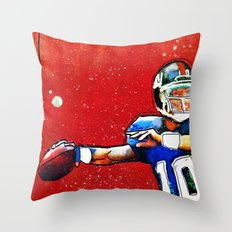 NY Giants' Eli Manning Throw Pillow