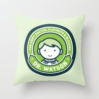 Cute John Watson - Green Throw Pillow