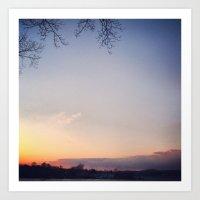 Sunset at Home Art Print