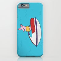 iPhone Cases featuring Jet Ski Pig by Pig & Pumpkin