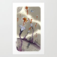 fire from outer space Art Print