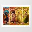 Joy Faith Hope and Love Art Print