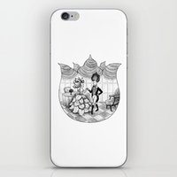 Floral Society Greeting iPhone & iPod Skin