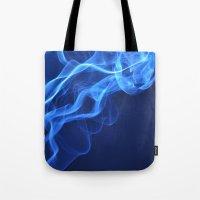 smoky blue Tote Bag