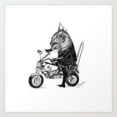 Fishy bike Art Print