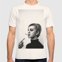 Cigarettes and the 60s Mens Fitted Tee Natural SMALL