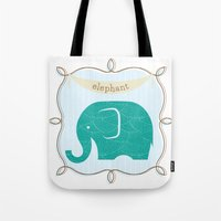 Fun At The Zoo: Elephant Tote Bag