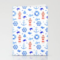 Marin pattern Stationery Cards