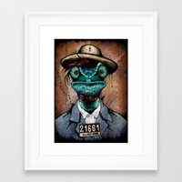 The Usual Suspects // El… Framed Art Print