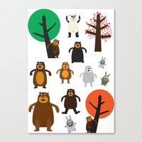 Bears, Grizzly And Other Canvas Print
