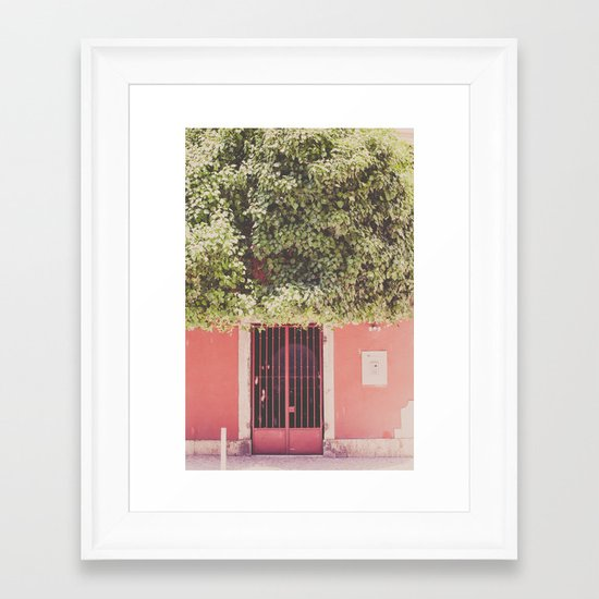 Behind the red door Framed Art Print