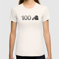 100th Monkey Womens Fitted Tee Natural SMALL
