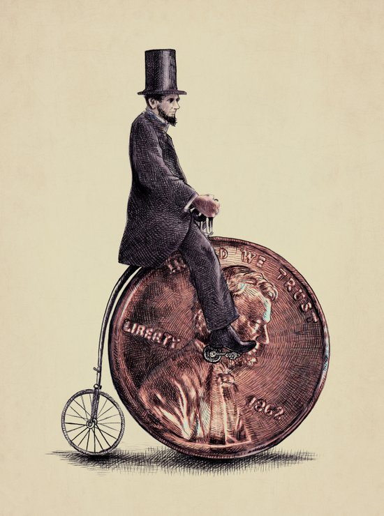 Penny Farthing  Art Print