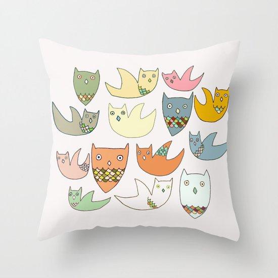 Owlz Throw Pillow