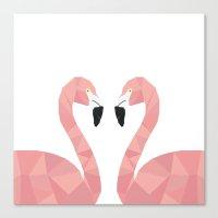 Abstract Flamingo Canvas Print