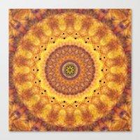 Autumn Fire Mandala Canvas Print