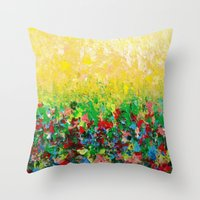 NATURE'S LIVING ROOM - G… Throw Pillow