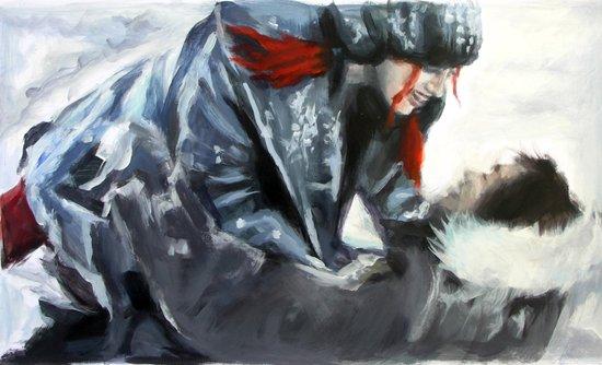 fire and ice II Art Print