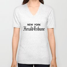 New York Herald Tribune! Breathless / a bout de souffle Unisex V-Neck