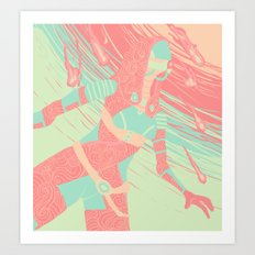 Tali'Zorah Mass Effect Art Print