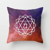 Anahata Chakra Throw Pillow